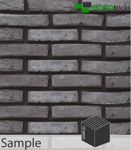SAMPLE - Antique Steel Grey Brick Slip