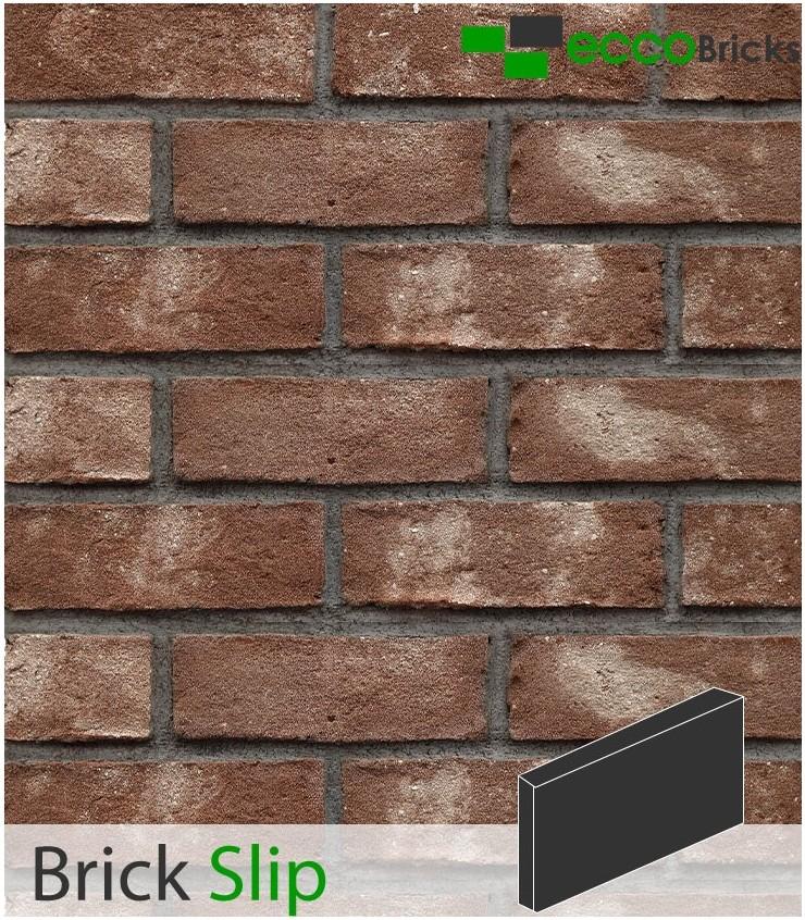 Antique Ash Brown Brick Slip