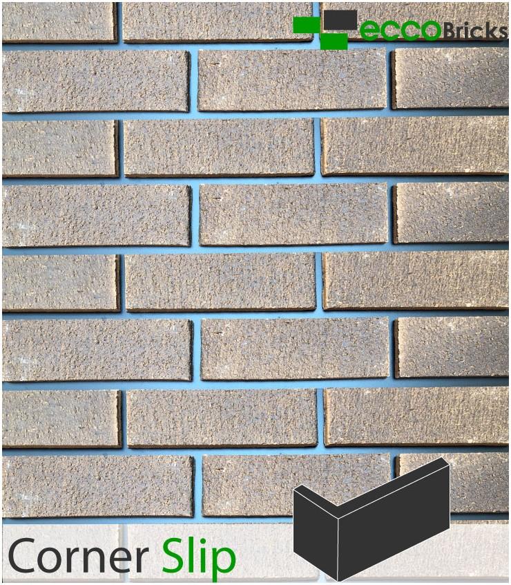 Natural Burnley Dark Multi Brick Slip - CORNER