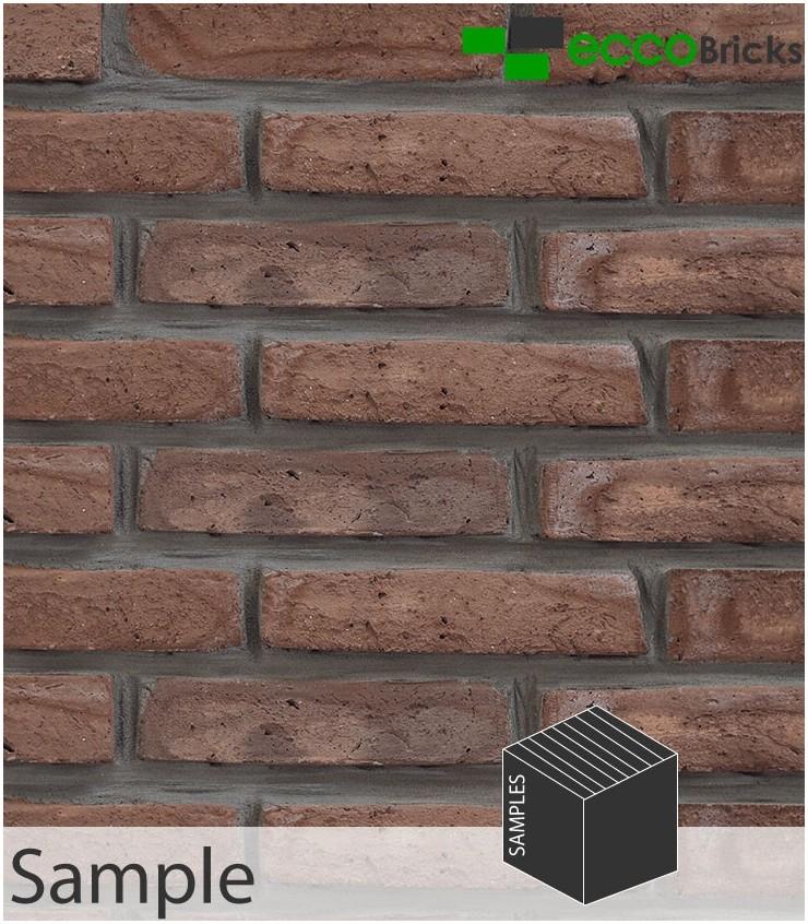 SAMPLE - Antique Brown Brick Slip