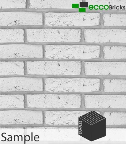 SAMPLE - Antique Ivory White Brick Slip